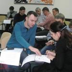 Участники семинара оценивают по 10-факторной шкале выбранные должности