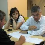 А. Кревский и А. Литягин обсуждают стратегическую KPI-карту компании